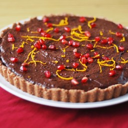 Christmas Menu – Raw Chocolate Orange Tart
