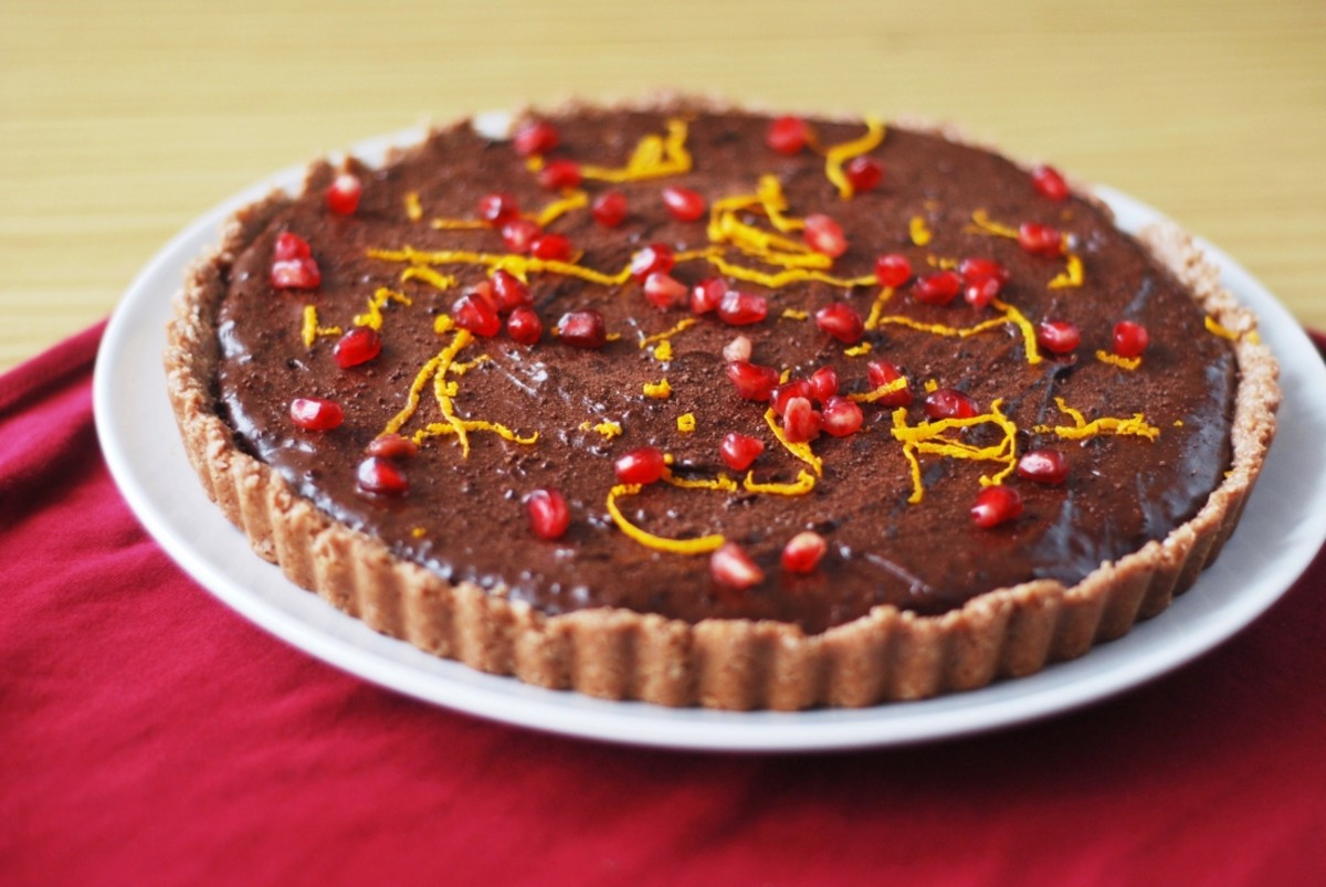 Christmas Menu – Raw Chocolate Orange Tart